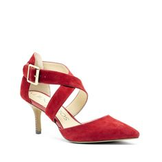 Women's Ruby Suede 2 1/2 Inch Pointed Toe Heel | Tamra by Sole Society