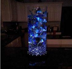 Beautiful blue orchid centerpiece | My Wedding | Pinterest                                                                                                                                                                                 More