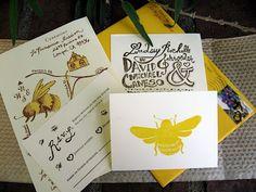 bee wedding invitations