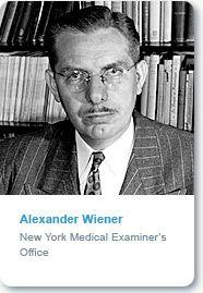 Albert Wiener http://www.laskerfoundation.org/awards/1946clinical.htm