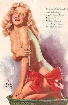 1946 - Pin-Up Marilyn - Série En Culotte par Earl Moran - Divine Marilyn Monroe Earl Moran, Pin Up Vintage, Vintage Art, Vintage Ladies, Pin Up Girls, Pin Up Pictures, Pin Up Illustration, Girl Illustrations, Vargas Girls