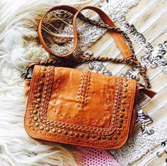 """344 Likes, 5 Comments - ELF (@balielf) on Instagram: """"The ✧QUEEN OF SUN✧ handmade leather crossbody featuring chain strap and hand braided design.…"""""""
