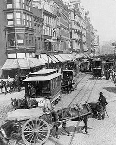 Broadway & Union Square New York City 1892 New York City photo of Broadway looking from Union Square to Madison Square in New York City in 1892.