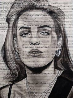 Original Pop Culture/Celebrity Drawing by Ahmad Shariff Music Painting, Air Brush Painting, Watercolor Painting, Anne Marie Album, Space Drawings, Art Drawings, Anne Maria, Rihanna Love, Celebrity Drawings