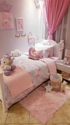 Cozy Easter Bedrooms Design Ideas To Try In 2020 Little Girl Bedrooms, Bed For Girls Room, Girls Bedroom, Girl Room, Toddler Room Decor, Toddler Rooms, Baby Room Decor, Girls Room Design, Girl Bedroom Designs