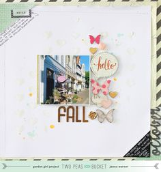 Janna Werner: In The Mood To Scrap - Chalkboard, Hearts and Fall (with video) #scrapbook