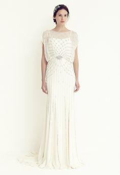 Este vestido de novia se llama Bardot y es de Jenny Packham...nos encanta!!