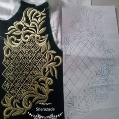 Bead Embroidery Patterns, Embroidery Works, Rose Embroidery, Hand Embroidery Stitches, Hand Embroidery Designs, Design Your Own Dress, Face Painting Stencils, Leather Tooling Patterns, Tambour Beading