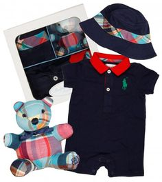 Ralph Lauren Baby Coverall/Teddy Gift Set from www.profilefashion.com