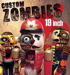 CUSTOM Sculpted 19 Zombie Nutcracker by ZombieNutcrackers on Etsy, $80.00