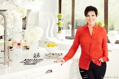 Pin for Later: The Megamansion Guide to Keeping Up With the Kardashians Kris Jenner's Black and White Kitchen