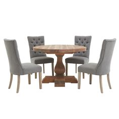 Sphinx Round Dining Table & 4 Rufus Chairs | Sterling Furniture