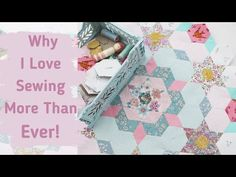 Emma Jones Vintage Sewing Box - YouTube Patchwork Quilting, Quilts, Vintage Sewing Box, Hexagon Pattern, English Paper Piecing, Love Sewing, Hand Stitching, Embroidery, Youtube