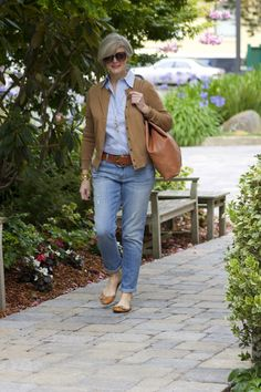 blue jeans and button-downs