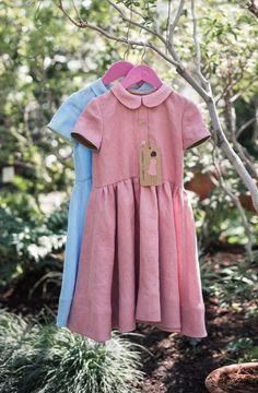 Beautiful Handmade Linen Dresses | TsiomikKids on Etsy