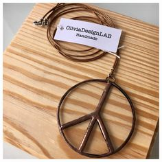 1 Peace symbol glass pendant  stained glass от OliviaDesignLab