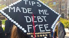 Graduation cap: bartending lifestyle!