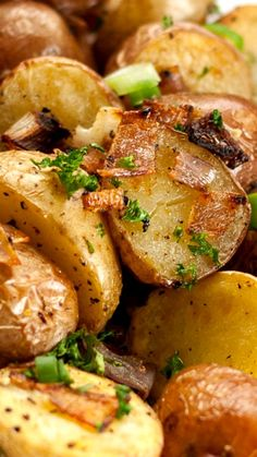 Parmesan Oven Roasted Potatoes ~ quick, simple and tasty.