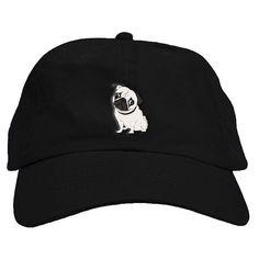 Pug padre sombrero de béisbol casquillo bajo perfil