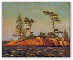 Tom Thomson  Split Rock Georgian Bay.  My heart always goes back to the Georgian Bay...from the First day i saw it...44yrs ago.