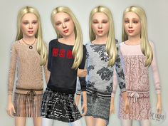 Designer Outfits Collection P02 Found in TSR Category 'sims 4 Female Child Everyday'