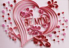 Paper Quilling sei mir Valentine Herz Unikate von Quilling247