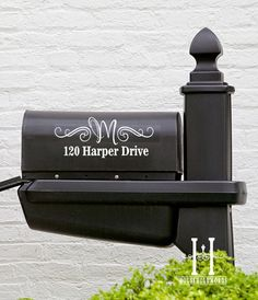 Street Address mailbox Decal Monogram, curb appeal, outdoor vinyl, new home owner gift household words