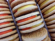 Recommended serving size: more than you want. LIMITED EDITION CANDY CORN FILLED OREOS.... WOW... ALRIGHTY THEN!!