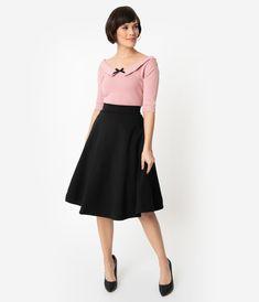 8b650835df Collectif Dusty Pink Cotton Knit Babette Half Sleeve Sweater Top – Unique  Vintage Halvlånga Ärmar