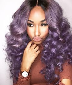 """""""Lavender Mami ♏️ _______________________________________________________Hair: @yhasihair , Champagne Wave, Code """"Karin"""" +Installed,Styled by…"""""""