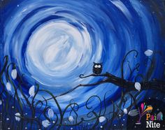 Join us for a Paint Nite event Tue May 2014 at 823 Hamilton St. Redwood City, CA. Purchase your tickets online to reserve a fun night out! Autumn Painting, Diy Painting, Simple Acrylic Paintings, Canvas Paintings, Night Sky Painting, Photo D Art, Halloween Painting, Paint And Sip, Beautiful Paintings