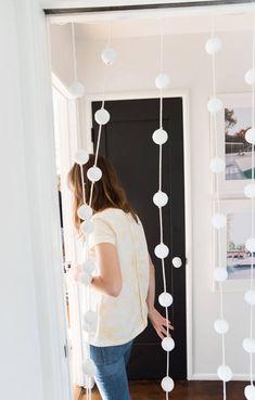 diy beaded curtain | designlovefest
