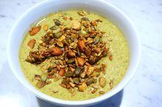 Grön yoghurt med granola recept - mjölkfri o glutenfri