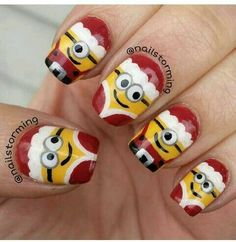Image christmas nail art designs - click the picture to see them all!Image viaChristmas Nail Art Design Ideas I don't care for the sn Holiday Nail Art, Christmas Nail Art Designs, Winter Nail Art, Winter Nails, Christmas Design, Xmas Nail Art, Xmas Nails, Christmas Nails, Santa Nails