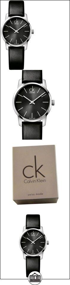 Calvin Klein K2G23107 - Reloj analógico de cuarzo para mujer con correa de piel, color negro  ✿ Relojes para mujer - (Gama media/alta) ✿