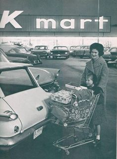 K-mart was the place we grew up going to.  There were no Walmarts at the time. Now most of them are closed down around us and it kind of makes me sad.