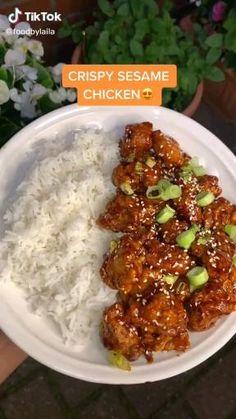 Comida Diy, Asian Recipes, Healthy Recipes, Diy Food, Food Hacks, Food Dishes, Food Videos, Chicken Recipes, Beef Recipes