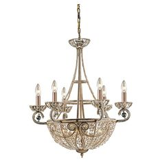 Elegantly illuminate your foyer or dining room with this eye-catching chandelier, showcasing 10 lights and a deep bronze finish.  Pr...