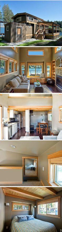 The San Juan, a luxury cottage at the Wildwood Lakefront Resort on Lake Whatcom in Washington.