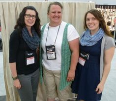 Two Herbies & a Heffinger worn at TNNA, all knit in Berroco Karma