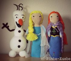 Amigurumi Elsa Y Ana : 1000+ images about crochet stuffed animals on Pinterest ...