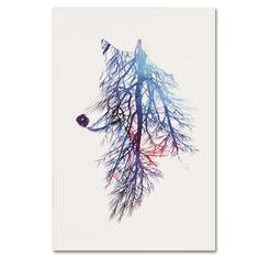 """Trademark Art """"My Roots"""" by Robert Farkas Graphic Art on Wrapped Canvas Size: 24"""" H x 16"""" W x 2"""" D"""