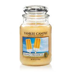 Yankee Candle - Orange Dreamsicle ''A favorite childhood summer treat you never outgrow . a cool blend of orange and vanilla ice cream.