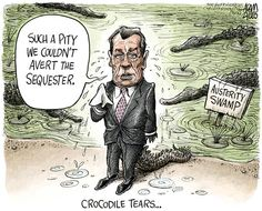 GOP Austerity Swamp political cartoons