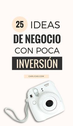 25 ideas de ideas de negocio con poca inversión