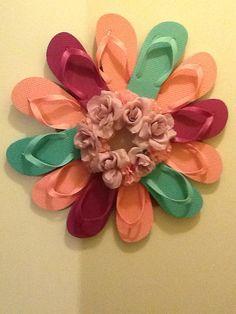 Handmade flip flop wreath by KdubbsCraft on Etsy