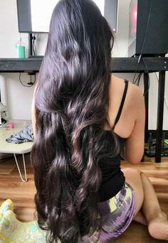 Long Silky Hair, Silky Smooth Hair, Long Dark Hair, Black Curly Hair, Super Long Hair, Indian Hair Cuts, Long Indian Hair, Beautiful Long Hair, Gorgeous Hair