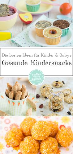 You can never have enough ideas for healthy children's snacks! The best are, of course, children Baby Food Recipes, Gourmet Recipes, Snack Recipes, Healthy Sweet Snacks, Healthy Kids, Happy Healthy, Snacks Sains, Baby Snacks, Salud Natural