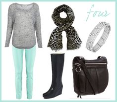 Pretty Little Things: how i'll wear it: mint pants (my fave of the 4 outfit options with mint pants)