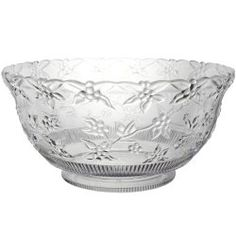 12 Quart Embossed Clear Punch Bowl - Punch Bowls / Project Fellowship